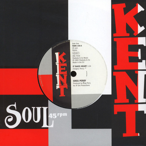 Greg Perry / Jocelyn Brown - It Takes Heart / If I Can't Have Your Love