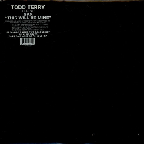 Todd Terry Presents Sax - This Will Be Mine