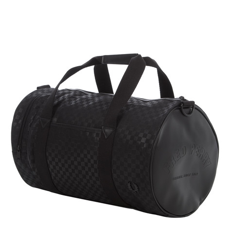 Fred Perry - Checked Nylon Barrel Bag