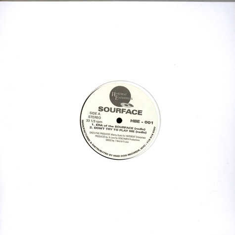 Sourface - Era Of The Sourface / Don't Try To Play Me