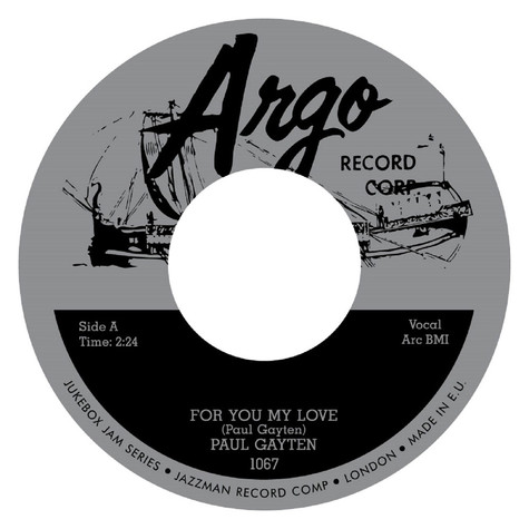 Paul Gayten - For You My Love / Down Boy