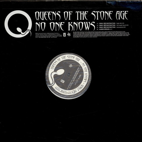 Queens Of The Stone Age No One Knows Vinyl 12 Quot 2003
