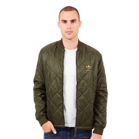 f07cf24d9 adidas - Quilted SST Jacket (Night Cargo)