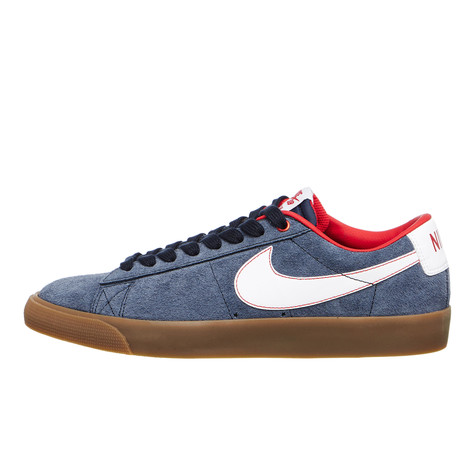 wholesale dealer eb001 f7408 Nike SB. Blazer Low GT (Obsidian   White   University Red ...