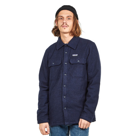 Patagonia Insulated Fjord Flannel Jacket Navy Blue Hhv