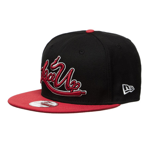 950246d847b Machine Gun Kelly - Lace Up New Era Snapback Cap (Black   Red)