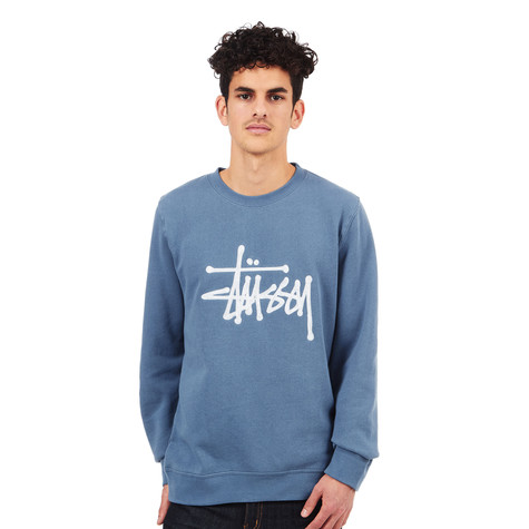 Stüssy - Chain Stitch Applique Crew Sweater