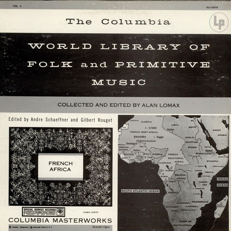 Alan Lomax, André Schaeffner - French Africa