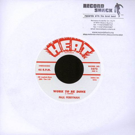 Paul Perryman / Bobby Roach - Work To Be Done / Mush