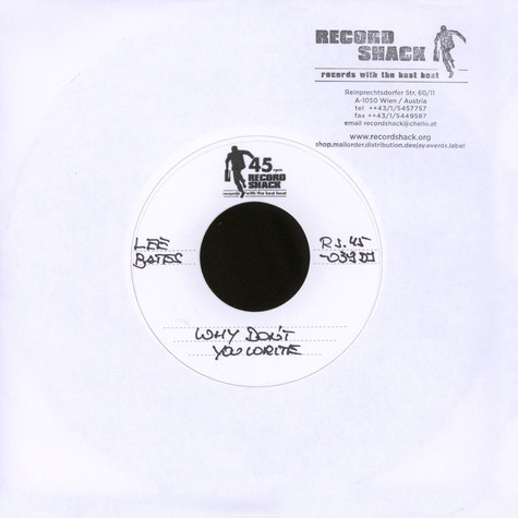Lee Bates - Why Don't You Write / Gonna Make You Mine