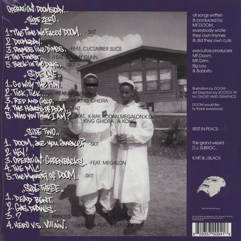 MF Doom - Operation: Doomsday Metal Face Cover Edition