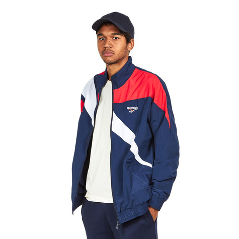 c7048a287e0 Reebok - Vector Track Top (Collegiate Navy   Primal Red)