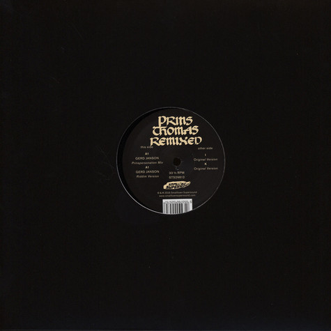 Prins Thomas - Gerd Janson Remixes