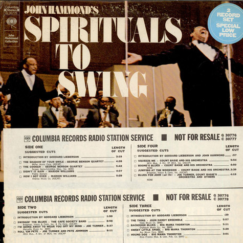 V.A. - John Hammond's Spirituals To Swing 30th Anniversary Concert (1967)
