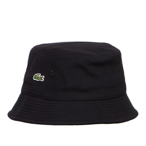 Lacoste - Pique Bucket Hat (Black)  8284781f46b