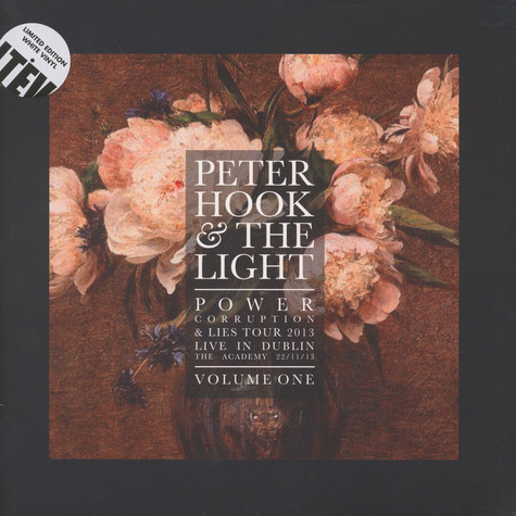 Peter Hook & The Light - Power Corruption And Lies - Live In Dublin Volume 1