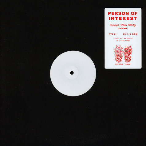 Person Of Interest - Boost The Whip (I-95 Mix)