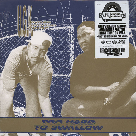 UGK - Too Hard To Swallow Clear Vinyl Edition