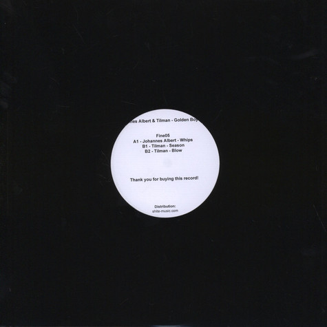 Johannes Albert & Tilman - Golden Boys EP Black Vinyl Edition