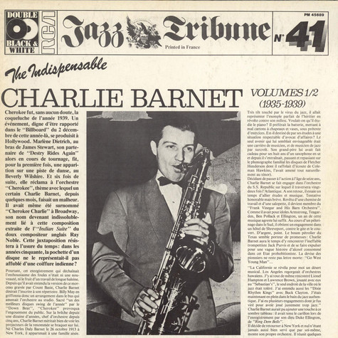 Charlie Barnet And His Orchestra - The Indispensable Charlie Barnett Volumes 1/2 (1935-1939)