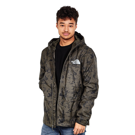 d43d93326c The North Face. 1990 Mountain Q Jacket (Black Ink Green Toile De Jouy Print)