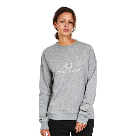 Fred Perry - Embroidered Sweatshirt (Steel Marl)   HHV 64487f2d3b01