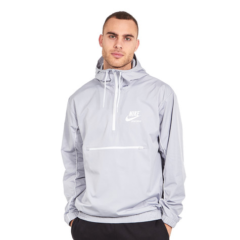 b27dfb8db Nike. NSW Jacket Hoodie Woven Archive (Wolf Grey / Pure Platinum / Summit  White)