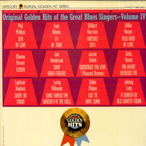 V.A. - Original Golden Hits Of The Great Blues Singers - Volume IV