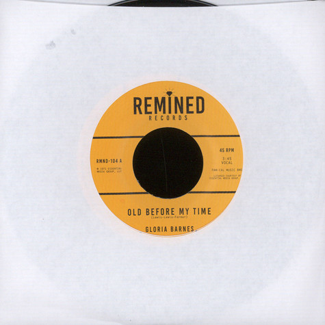 Gloria Barnes - Old Before My Time / I'll Call You Back Later