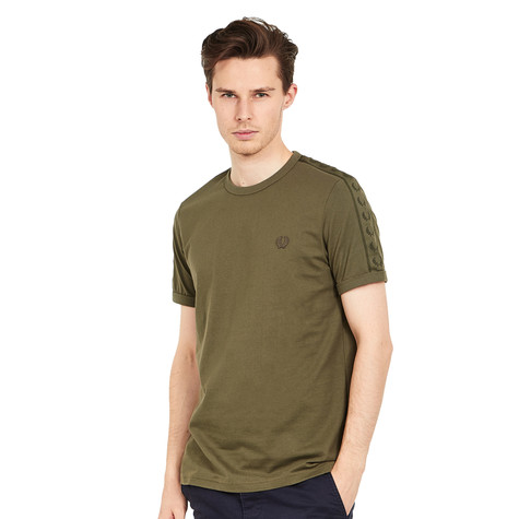 Fred Perry - Tonal Taped Ringer T-Shirt (Iris Leaf)   HHV ccd7357148e0