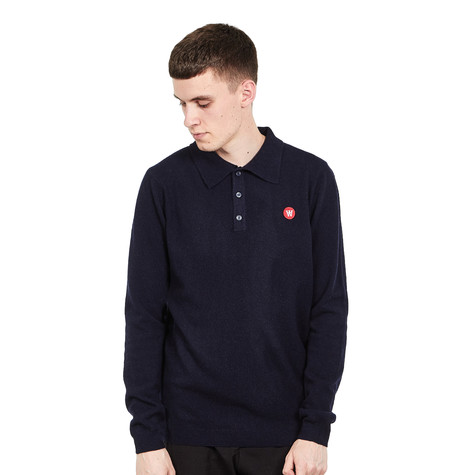 Wood Wood - Jim Long Sleeve Polo
