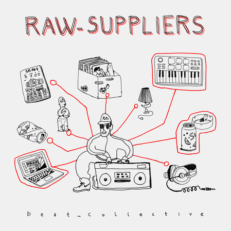 Raw Suppliers - beat_collective Red & White Marbled Vinyl Edition