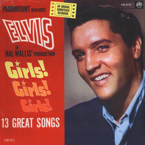 Elvis Presley - Girls Girls Girls RSD 2018 Red Vinyl Edition