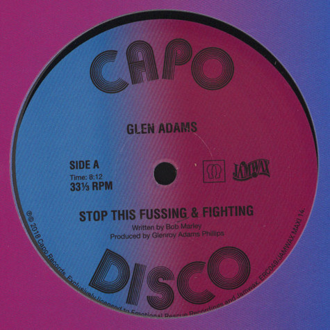 Glen Adams - Stop That Fussing And Fighting