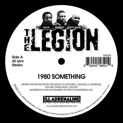 Legion, The - 1980 Something / Heard We Quit Opaque Red Vinyl
