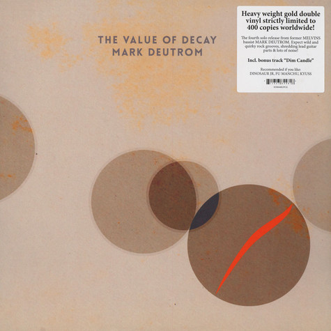 Mark Deutrom - The Value Of Decay Gold Vinyl Edition