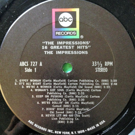 Impressions, The - 16 Greatest Hits
