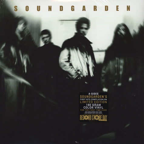 Soundgarden - A-Sides Transparent Green & Black & White Swirl Marbled Vinyl Edition