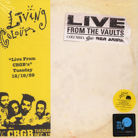 Living Colour - From The Vaults: Live From CBGB's, 12/19/89