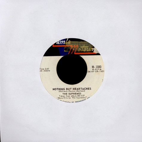 Supremes, The - Nothing But Heartaches / He Holds His Own