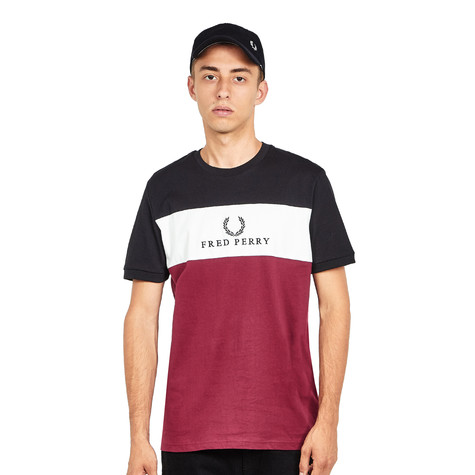 Fred Perry - Embroidered Panel T-Shirt (Tawny Port)   HHV f903d1e5ede0