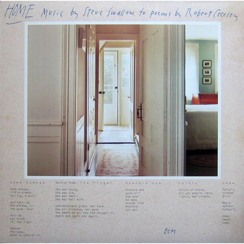 Steve Swallow - Home · Music By Steve Swallow To Poems By Robert Creeley