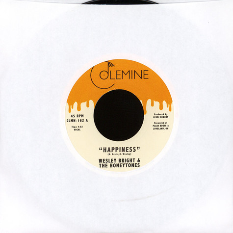 Wesley Bright & The Honeytones - Happiness / You Don't Want Me Black Vinyl Edition