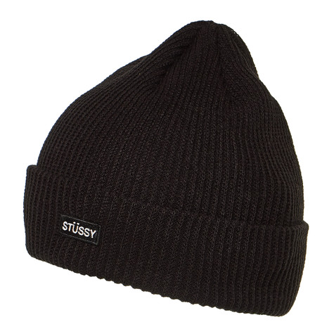 fe7e9759029 Stüssy - Small Patch Watch Cap Beanie (Black)