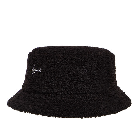 Stüssy - Sherpa Fleece Bucket Hat (Black)  477027c11dc