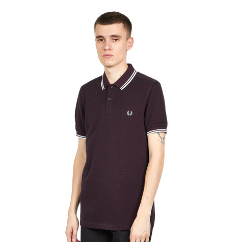 b7f9877ed Fred Perry - Twin Tipped Fred Perry Shirt (Shiraz Black Oxford ...