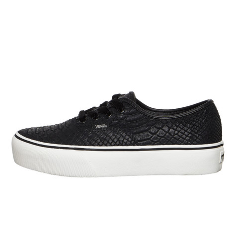 afd856b93d70d9 Vans - UA Authentic Platform 2.0 (Leather) (Snake   Black)