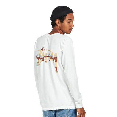 423a5471 Stüssy - Camo Stock Pigment Dyed Pocket LS Tee (Natural) | HHV