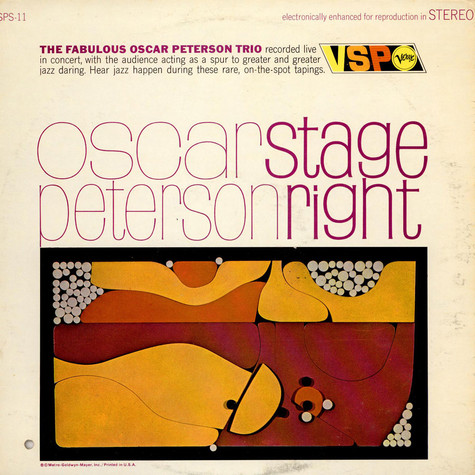 Oscar Peterson Trio, The - Stage Right