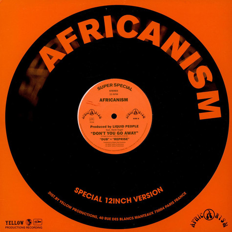Africanism By Liquid People Feat. Heidi Vogel - Don't You Go Away